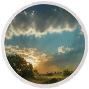 Colorado Sunset Round Beach Towel