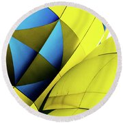 Colorful Abstract Hot Air Balloons Round Beach Towel