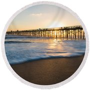 Colorful Start Round Beach Towel