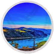Columbia River Gorge Round Beach Towel by Nancy Marie Ricketts