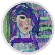 Complicated Woman Round Beach Towel