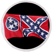 Confederate-flag Round Beach Towel