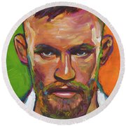 Conor Mcgregor Round Beach Towel by Robert Phelps