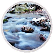 Cool Waters Round Beach Towel