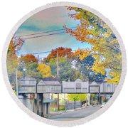 Cooper Young Trestle Round Beach Towel