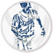 Corey Seager Los Angeles Dodgers Pixel Art 10 Round Beach Towel