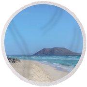 Corralejo - Fuerteventura Round Beach Towel by Joana Kruse