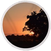 Round Beach Towel featuring the photograph Country Air by John Glass