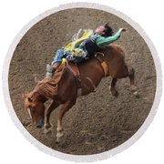 Cowboy Up Round Beach Towel