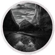 Round Beach Towel featuring the photograph Coyote Gulch by Dustin LeFevre