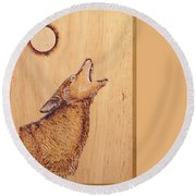Coyote Round Beach Towel by Ron Haist