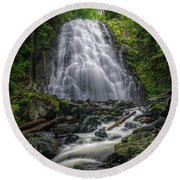 Crabtree Falls North Carolina Round Beach Towel