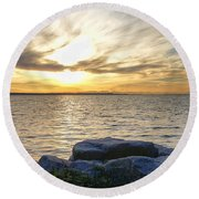 Crescent Beach, Bc Round Beach Towel by Heather Vopni