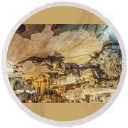 Crystal Cave Sequoia National Park Round Beach Towel