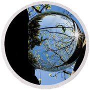Crystal Reflection Round Beach Towel