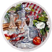 Crystal Reflections Round Beach Towel by Alexandra Maria Ethlyn Cheshire