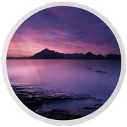 Cuillins At Sunset Round Beach Towel