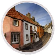 Round Beach Towel featuring the photograph Culross by Jeremy Lavender Photography