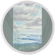 Dagrar Over Salenfjallen- Shifting Daylight Over Distant Horizon 9 Of 10_0029 Round Beach Towel