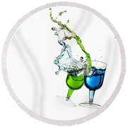 Dancing Drinks Round Beach Towel