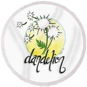 Dandelion Round Beach Towel