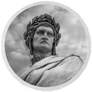 Round Beach Towel featuring the photograph Dante Alighieri by Sonny Marcyan