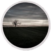 Dark And Light Round Beach Towel