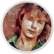 David Cassidy, Singer And Actor Round Beach Towel by Mary Bassett