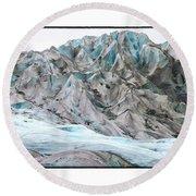 Davidson Glacier Round Beach Towel