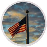 Dawn's Early Light Round Beach Towel by Bruce Carpenter