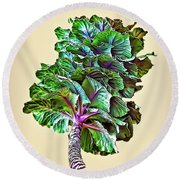 Round Beach Towel featuring the photograph Decorative Cabbage by Walt Foegelle