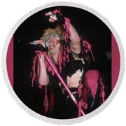 Dee Snider Of Twisted Sister Round Beach Towel