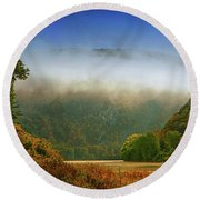 Delaware Water Gap Round Beach Towel by Raymond Salani III