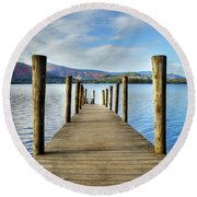 Derwent Water Pier Round Beach Towel