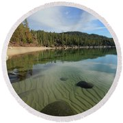 Round Beach Towel featuring the photograph Do You Speak The Language Of Sands by Sean Sarsfield
