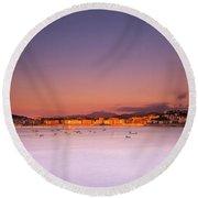 Round Beach Towel featuring the photograph Donostia San Sebastian  by Mariusz Czajkowski