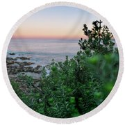 Down To The Water Round Beach Towel