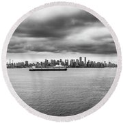 Round Beach Towel featuring the photograph Downtown Vancouver by Ross G Strachan