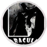 Dracula Movie Poster 1931 Round Beach Towel