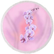 Dragon Orchid Round Beach Towel