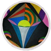 Dream 313 Round Beach Towel