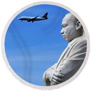 Round Beach Towel featuring the photograph Dream by Skip Hunt