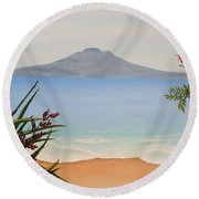 Dreaming Of Rangitoto Round Beach Towel