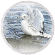 Dreamy Seagull Round Beach Towel