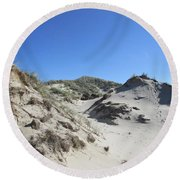 Dunes In The Noordhollandse Duinreservaat Round Beach Towel