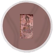 Durga ,the Warrior Goddess Round Beach Towel