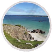 Round Beach Towel featuring the photograph Durness - Scotland by Pat Speirs