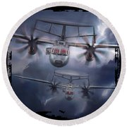 E-2d Hawkeye Round Beach Towel