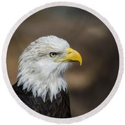 Eagle Profile Round Beach Towel