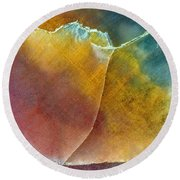 Earth Portrait 001 Round Beach Towel